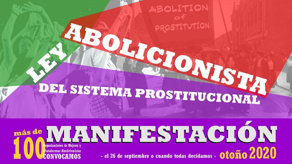 Cartel Manifestación Abolicionista otoño