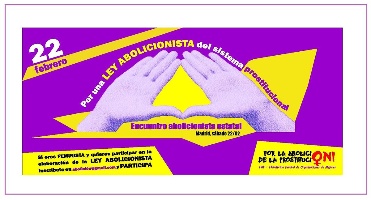 Cartel Encuentro Ley Abolicionista