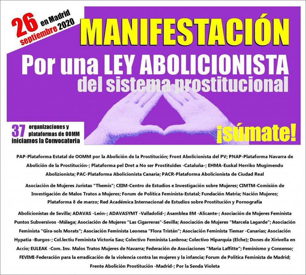 Cartel Manifestación Abolicionista 37 OOMM