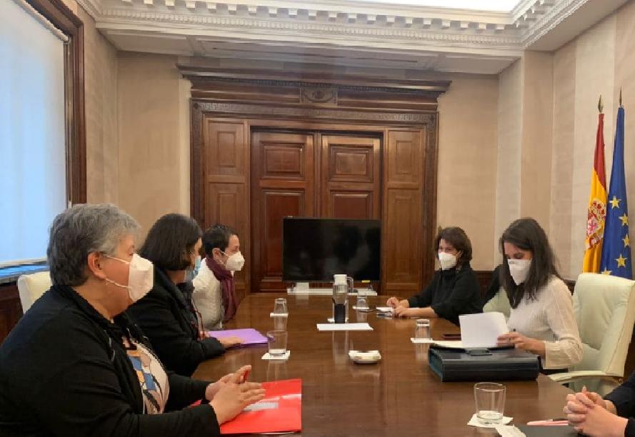 Reunión con el Ministerio de Igualdad
